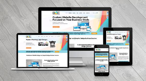 Image That Shows Various Views Of a Website Like Mobile View, Desktop and Tablet View.