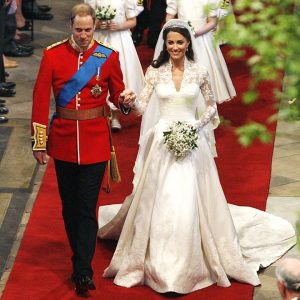 Prince William And Kate Middleton walking down after their wedding that took place in a lavish way.